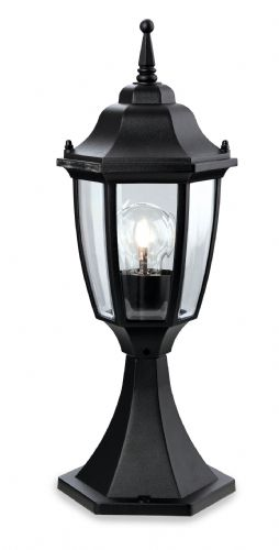 Firstlight 8664BK Black Faro Lantern - Pillar